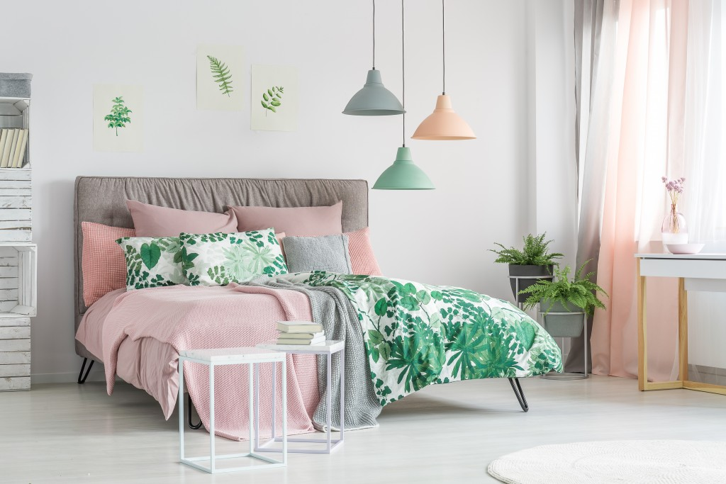 A Pastel Coloured Bedroom
