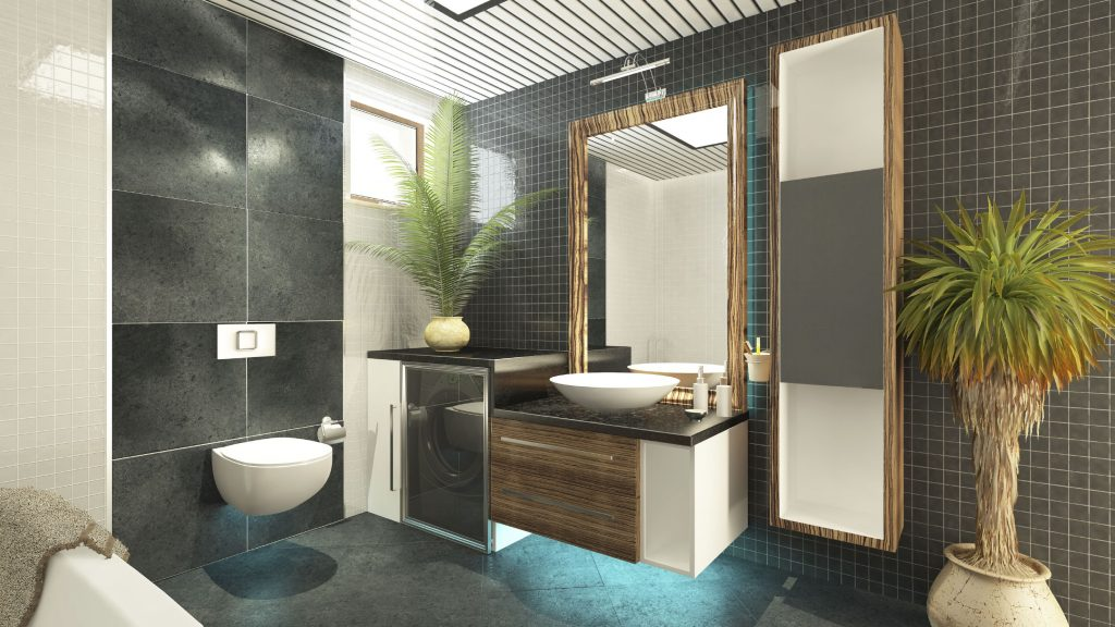 bathroom 3d interior model render