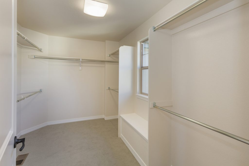 Master closet with Lots of Room for Clothes